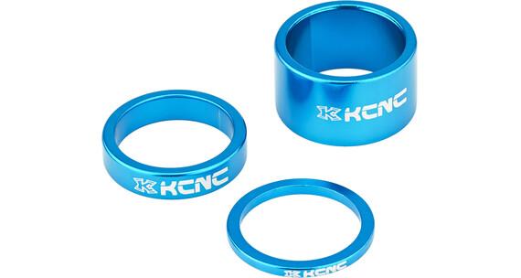 """KCNC Headset Spacer 1 1/8"""" 3/8/20mm Blå"""